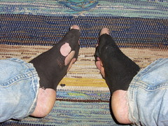 undersidan (lasseman92) Tags: broken socks out big sock toe hole rags bad holes holy terrible worn torn heel cry trasig hobo hollow ragged tattered wornout holey inherited froozen holysock strumpa sockholes strumphl