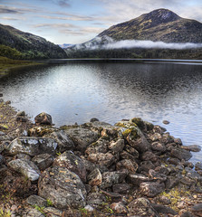 Rocks on Loch Clair (kirky1664) Tags: hdr torridon westerross lochclair lochclar