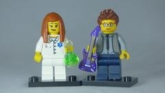 Brick Yourself Custom Lego Figure Hipster Musician & Scientist