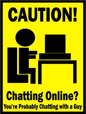 Chatting Caution Sign