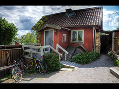 A piece of Sweden (Kaj Bjurman) Tags: red summer sky house building eos sweden 5d sverige hdr kaj mkii markii sigtuna cs4 photomatix bjurman