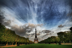 Light and Shadow at Champs de Mars (` Toshio ') Tags: park autumn trees light shadow paris france tower fall monument grass architecture french europe european artistic eiffeltower relaxing vivid peaceful eiffel historic toureiffel hdr champsdemars europeanunion toshio gustaveeiffel highdynamicresolution superaplus aplusphoto