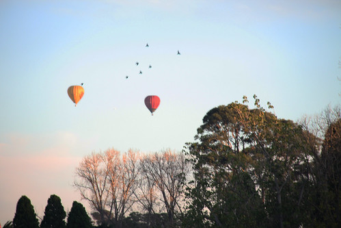 Sunrise hot air ballooning