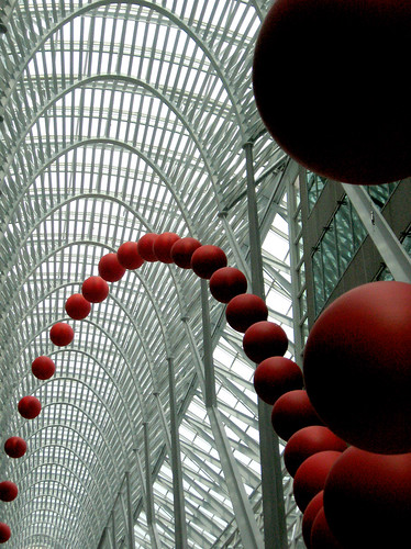 David Rockebys Long Wave installation is part of Luminatos Communication/Environment art programming (photo by Craig Moy).