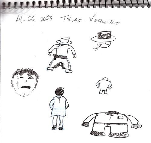 Mi memoria en dibujos 28 (V, Vaquero)