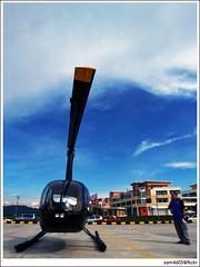 Mini Helicopter 1Borneo Alam Mesra (sam4605) Tags: ed olympus helicopter malaysia borneo kotakinabalu e1 sabah kota copter zd sabahborneo 1260mm 1borneo sam4605