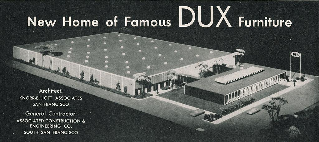 DUX Furniture Headquarters Burlingame 1960