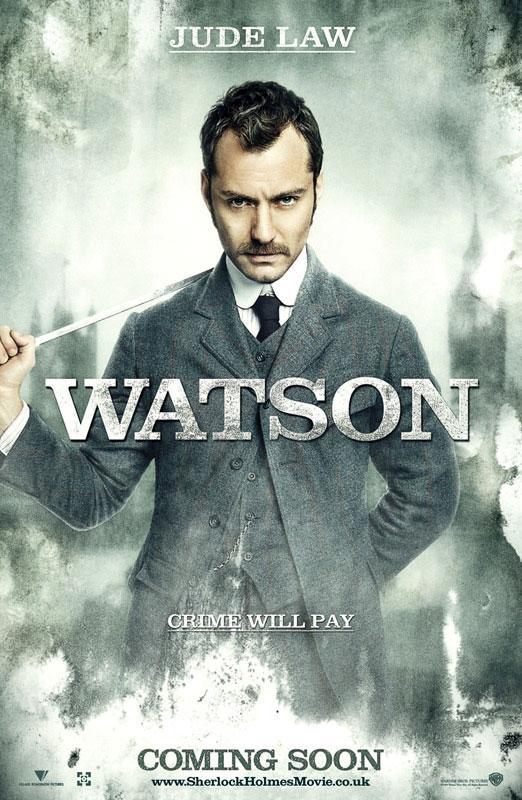 Sherlock Holmes Watson Jude Law