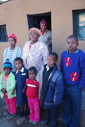 Gogo & grandchildren in Qwaqwa