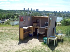 An Office in the Park (raise my voice) Tags: park festival office edmonton louise works mckinney
