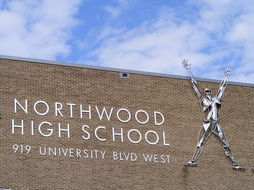 Northwood High School Sign (I Love This Font!)
