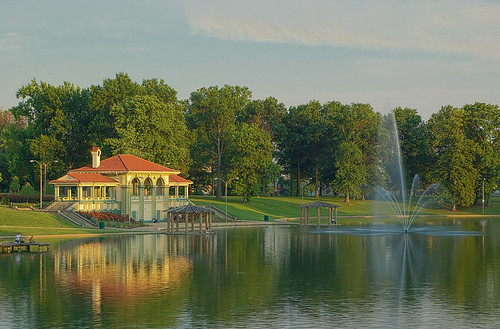 Boathouse Lake, Carondelet Park, in Saint Louis, Missouri, USA