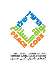 peace core logo (Yaronimus Maximus) Tags: blue orange green english poster typography israel movement peace palestine protest arabic hebrew typo  branding core  socialmovement yaronimus  garinshalom hebrewtypography israelgraphicdesign  threelanguages