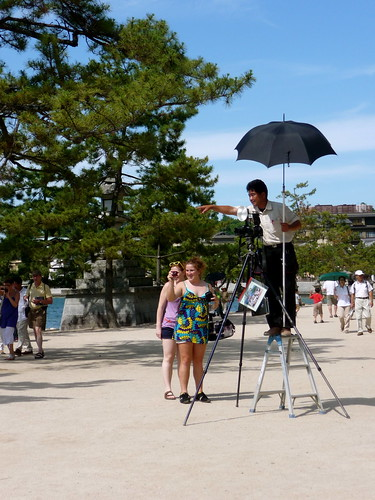 Photographer at Miyajima Shrine