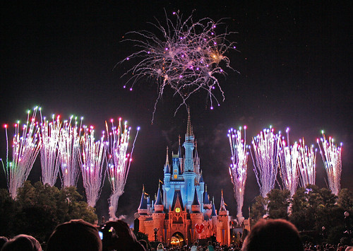 Disney World trip - day 7 - Wishes fireworks show - Flying Spaghetti Monster