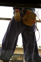 Construction Worker 1 (pokoroto) Tags: summer people man japan pants july  worker fukuoka 2009 kyushu baggy  iizuka 7     fumizuki 21 chikuh