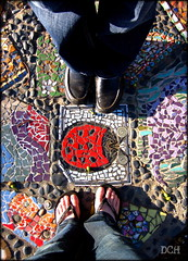 A Ladybug At Our Feet (suavehouse113) Tags: selfportrait art feet tile phil mosaic australia sidewalk ladybug lookingdown multicolored fremantle footpath freo westernaustralia sidewalkart mosaictile communityart southterrace southfremantle footpathart dolookdown