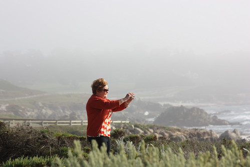 Sue taking a photo at 17 Mile Drive
