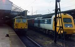 Class 87 87033 43000 Crewe 18/9/78 (Stapleton Road) Tags: apt crewe hst class43 class87 testtrain
