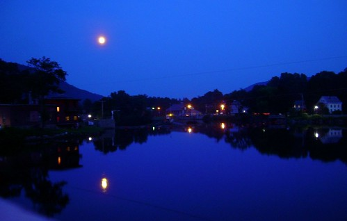 Shelburne Falls at Night