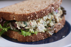 Tuna Salad on Whole Grain Bread - bread making machine