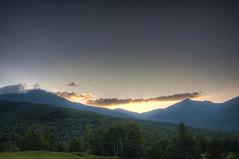 Mount Washington (seanmcgrath) Tags: sunset vacation mountain slr forest nikon newhampshire sigma gear whitemountains nh mtwashington sunrays coulds hdr 1850 mountwashington d90 1850mm photomatix sigma1850mmf28 sigma1850mmf28macro nikond90