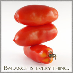 ... (StoneMen) Tags: red food vegetables balance everything tomaten tomatoe stonemen