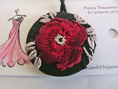 embroidered ponytail tie (Pretty Treasures for gorgeous girls) Tags: etsy madeit helen21 dawanda dustteam