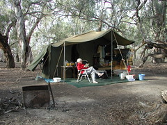 Scruby camp River Run, Darling River (spelio) Tags: camp darling river nsw mary bush fire campfire australia travel 2009 kinchega national park np campsites set relax reading retired link retire wellbeing fireplace redgums mapped map approx velcropalace waypoint camp00 grey nomad greynomad favs favourites favorites serenity fave matter wikipedia research