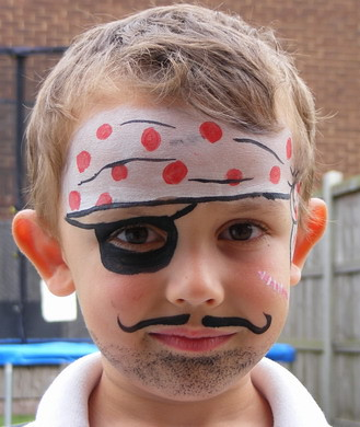 Paint Images on Pirate Face Painting   Face Painting Ideas