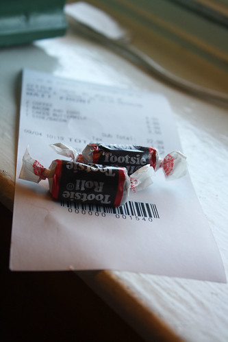 tootsie roll receipt