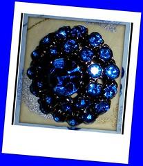 blue rhinestone