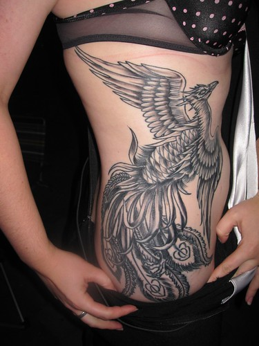 The Phoenix Tattoo, now shaded