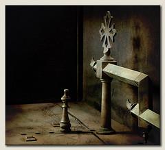 Riddle of the cross (ilsebatten) Tags: texture cross diana imitationoflife thegoldengallery goldentreasure memoriesbook imaginatio themonalisasmile