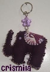 Chaveiro de Elefante em tecido (crismilaartesanato) Tags: elefante chaveiro