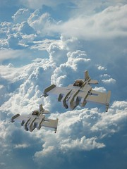 Fighters in Da Sky (ABS doohickies) Tags: plane fighter lego space air cop aricraft