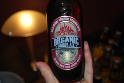 One of the organic beers we got