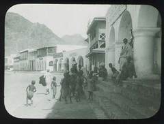 On the steps the hotel veranda (The Field Museum Library) Tags: africa expedition yemen mammals aden zoology 1896 carlakeley specimencollection dgelliot