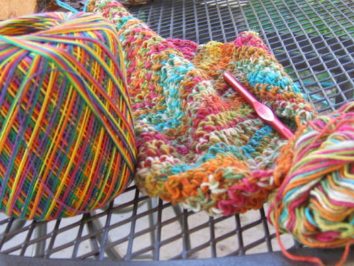 It was colorful crocheting this weekend!