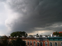 Human skull in a cloud. (yankeesmann1918) Tags: nyc cloud wall skull shelf human thunderstorm