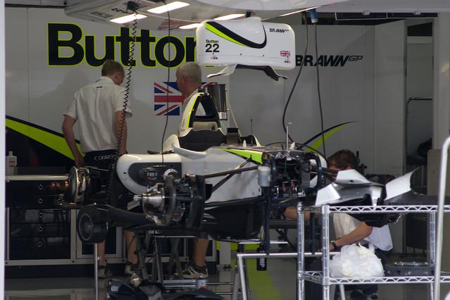 Brawn GP Pit Garage