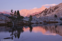 Tranquility (Windwalker Images) Tags: sunset lake reflection sequoianationalpark alpenglow sawtooth kaweah mineralking alpineglow windwalker michaelhansen mosquitolake5