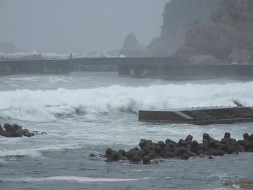 台風18号による時化模様~笹川流れ