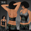 WoE UB-01b Denim Waist Cinch - Dusk