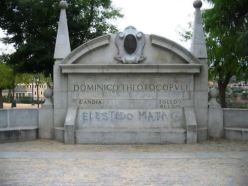 Pintadas en el monumento a El Greco. Toledo, 2009