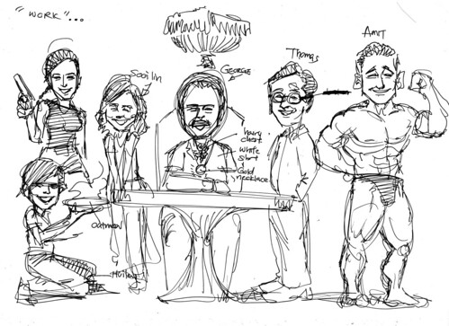 Caricatures for Morgan Stanley sketch 2