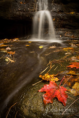 Autumn Waterfall (Giants Bathtub-Matthiessen State Park) (Josh Merrill Photography) Tags: park autumn red color fall water leaves waterfall leaf stream state il utica matthiessen allrightsreservedjoshmerrillphotographyjoshmerrillphotographyautumncopyrightfallillinoisjoshlandscapelislematthiessenmerrillnatureparkplacesrockseasonstarvedstate afhht