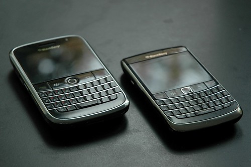 BlackBerry Bold 9000 and 9700