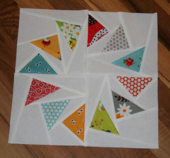 geese in a circle~ for the pillow talk swap (sewdeerlyloved) Tags: circle japanese geese kei market talk pillow swap fancy block flea honeycomb seedling posies