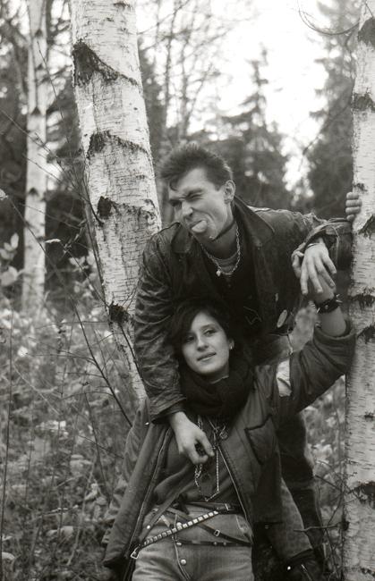 Рин с женой, Москва 1986